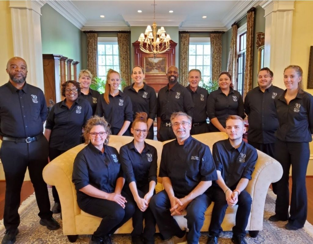 the 39 west catering team at linbrook hall