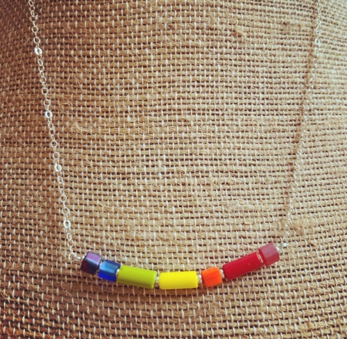 brilliant rainbow colored beads by suijin li