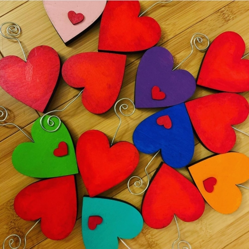 Brilliant Colored Hearts - SuiJinLi Designs