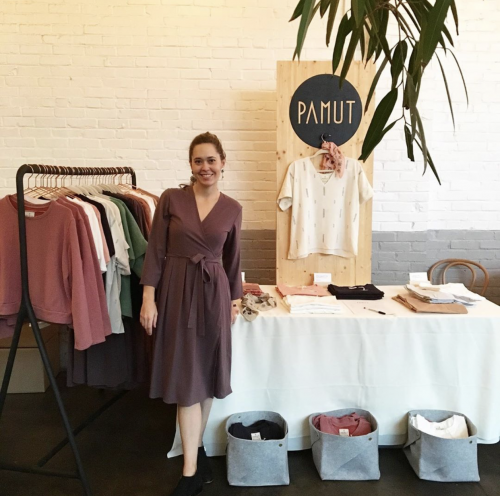 Raleighs Pamut Apparel at a pop-up-event
