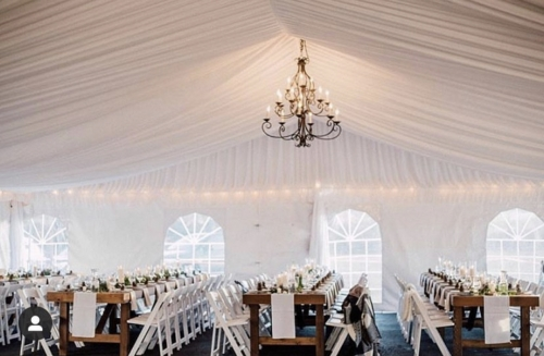 draped tents from capital events